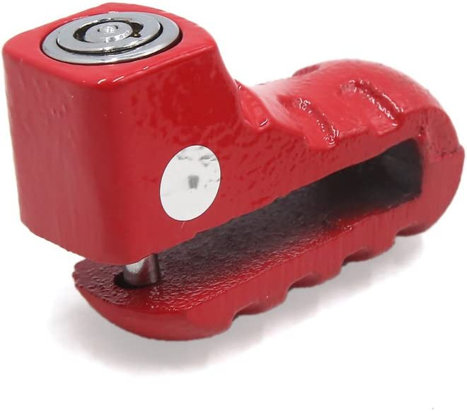 uxcell Red Wheel Anti-thief Safety Disc Rotor Lock Replacement with 2 Key for Motorcycle
