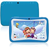 Kids Tablet, Padcod New 7 Inch Display Android 5.1 1280x800 IPS Display, Cortex A9 Processor and with Camera, 1GB RAM 8GB ROM HD Video Playing and Playing Games (Blue)