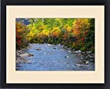 Framed Print of The Swift River in Autumn along the Kancamagus Highway near Conway New