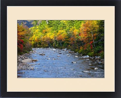 Framed Print of The Swift River in Autumn along the Kancamagus Highway near Conway New by Fine Art Storehouse