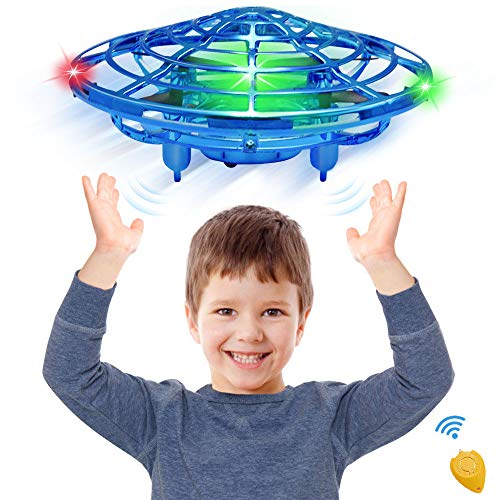 CPSYUB Hand Operated Mini Drone, Toys for Boys Age 6, Hands Free Kids Drone Toys for Age 4, 5, 6, 7, 8, 9, 10, 11, 12 Boys / Girls, Easy Flying Ball Drone for Kids Toys Gifts (Blue) (Old Boy Best Toys 5 Year)