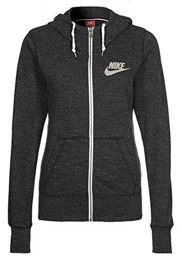 Nike Gym Vintage Women's Full-zip Hoodie (Black/Sail, X-Small)