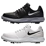 NIKE Air Zoom Accurate Golf Shoes - Black Metallic Silver