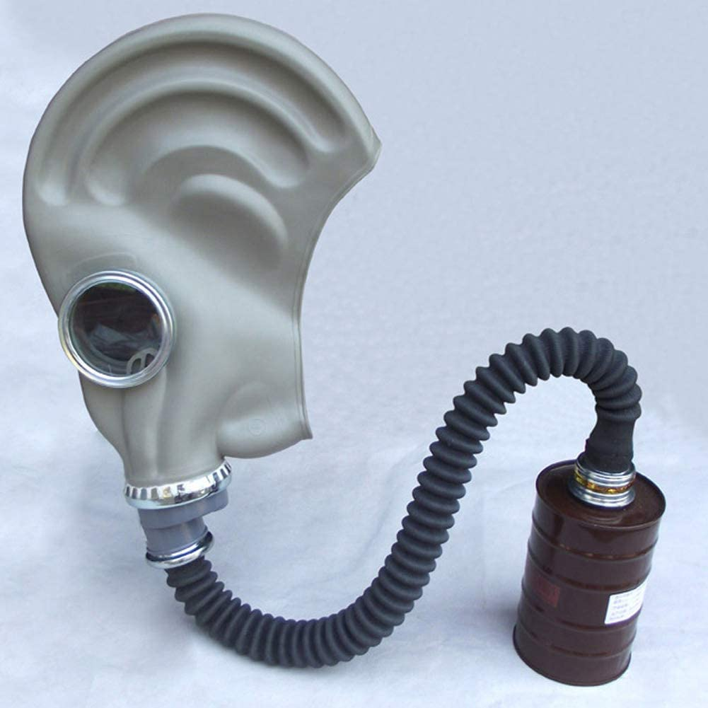 SHENXX Máscara Respiratoria, Máscara Antigás Máscara Facial Completa, Protección contra Gases Industriales, Máscara Antipolvo con Conducto,C