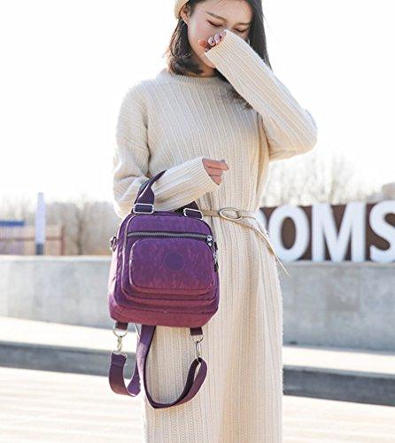 Waterproof Casual Yuncai Womens Bags Handbag Backpack Purple Multifunctional Small TtFq67dFwx