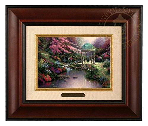 Pools of Serenity - Thomas Kinkade Brushwork (Burl Frame) (Garden Serenity Thomas Kinkade)