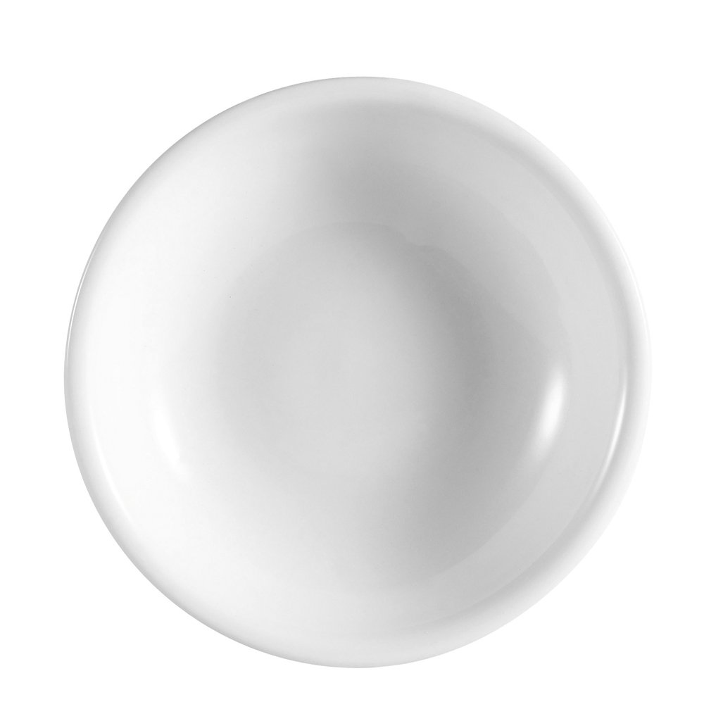 CAC China CN-45 Accessories 3-1/2-Inch 2-Ounce Super White Porcelain Round Sauce Dish, Box of 72