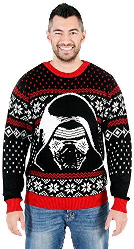 Star Wars The Force Awakens Kylo Ren Ugly Christmas Sweater (2X) (Twas The Night Before Christmas Hi 5)