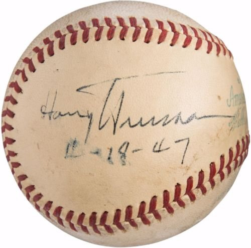 Beautiful-President-Harry-S-Truman-Single-Signed-Baseball-PSA-DNA-JSA-COA