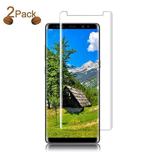 8 Tempered Glass Screen Protector, Loopilops [HD Clear][Anti-Bubble][Anti-Scratch][Anti-Fingerprint] Tempered Glass Screen Protector for Samsung Galaxy Note 8 [Case Friendly] ()
