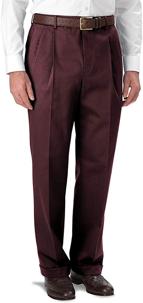1950s Men's Pants, Trousers, Shorts | Rockabilly Jeans, Greaser Styles Paul Fredrick Mens Impeccable Cotton Chino Pleated Pant $48.00 AT vintagedancer.com