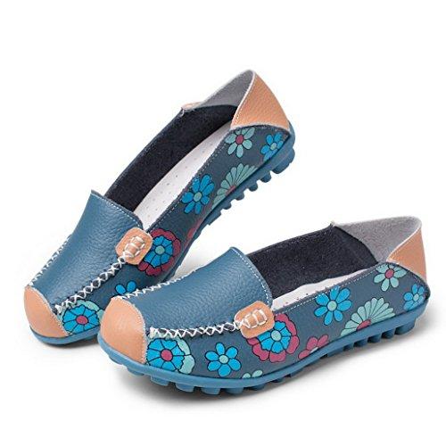 Evedaily - alpargatas mujer Azul