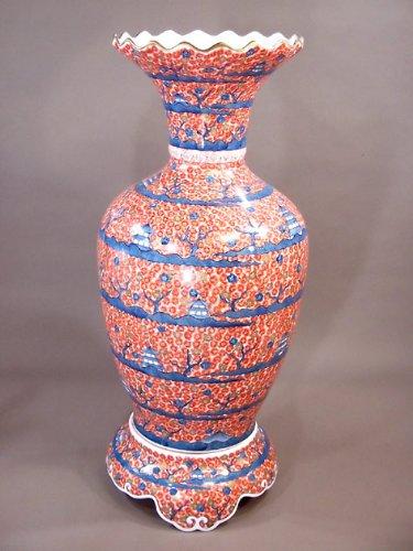 有田焼伊万里焼|陶器沈香壺陶器花瓶|贈答品|ギフト|贈り物|記念品|金彩桜藤井錦彩 B00H8DUKOS
