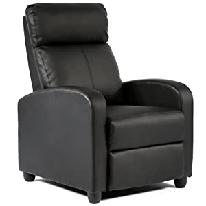 Wingback Leather Modern Recliner Chair