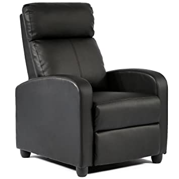 Amazon Fdw Wingback Recliner Chair Leather Single Modern Sofa
