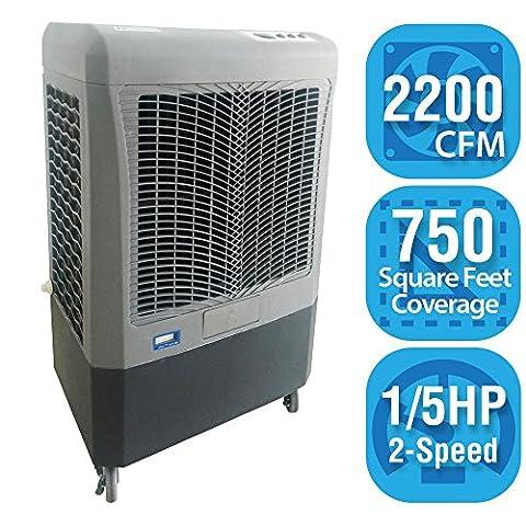 Hessaire MC37A 2200 CFM 3 Speed Evaporative Cooler (Evaporative Cooler Portable)