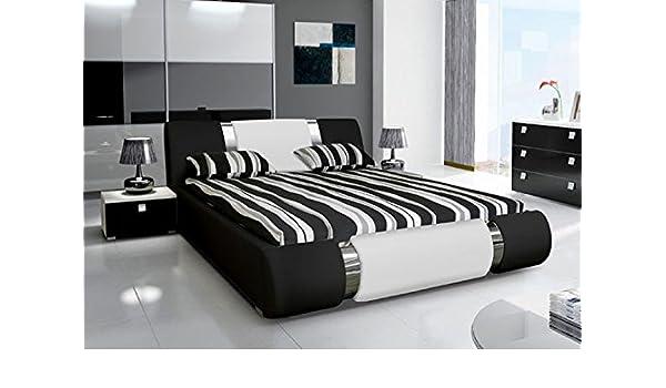 Camas y muebles-Cama de dibujo Alicante 2 en color negro, blanco y negro: Amazon.es: Hogar