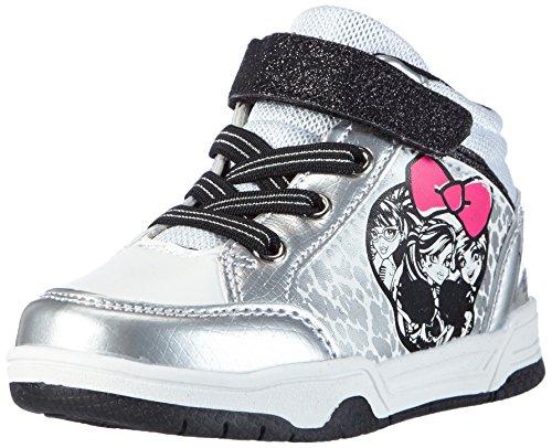 Monsterhigh Girls Kids Skate/street high Sneakers, Mädchen Hohe Sneakers, Mehrfarbig (041 SILVER/WHITE/BLACK/WHITE SILVER), 30 EU