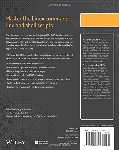 Buy Linux Command Line And Shell Scripting Bible Book Online At Low