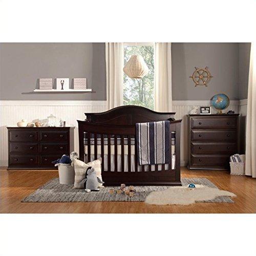 DaVinci Meadow 4-In-1 Convertible Crib With Toddler Bed Conversion Kit, Dark Java (Da Vinci Kalani Convertible Crib)