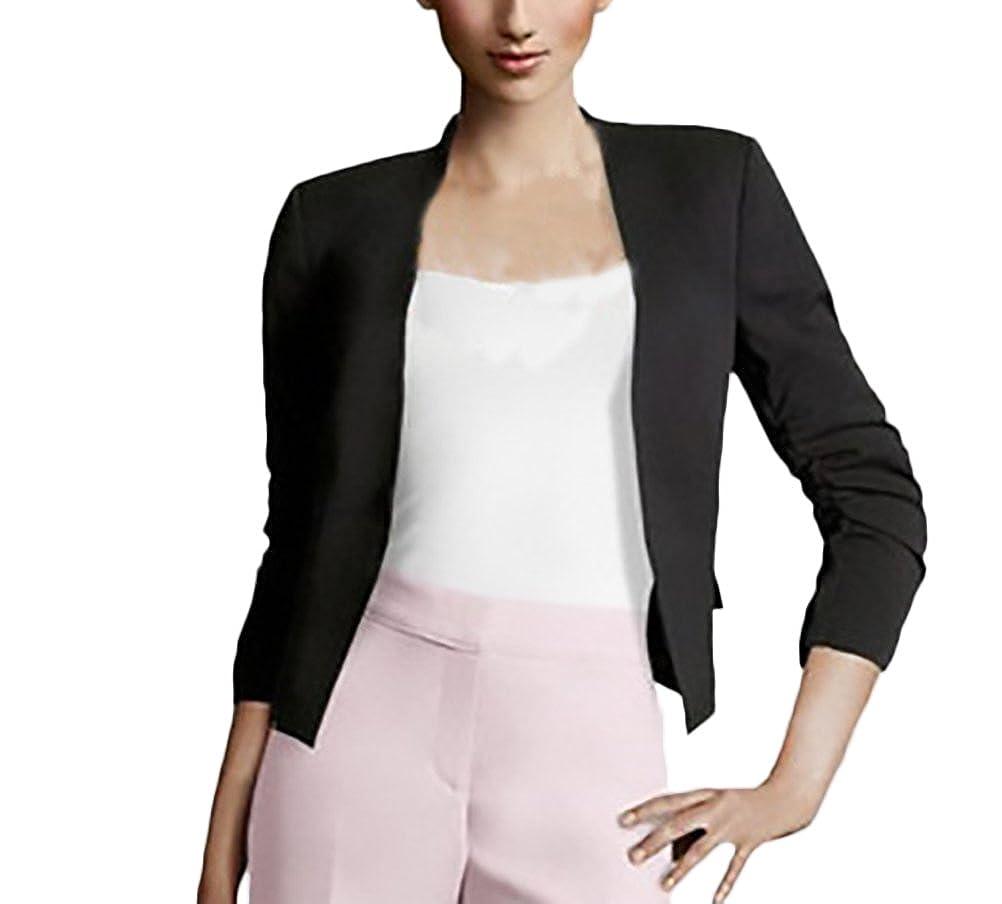 Blazer Donna Elegante Primaverili Manica Lunga Slim Fit Ufficio Business Casual Moda Tailleur Giacca Giacche Puro Colore Laisla Fashion