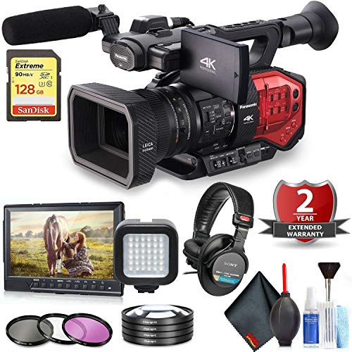Panasonic AG-DVX200 4K Handheld Camcorder with Four Thirds Sensor and Integrated Zoom Lens Professional Kit