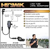 Hawk Lapel Mic for Motorola XTS Radios Includes Fin Ultra Earmolds