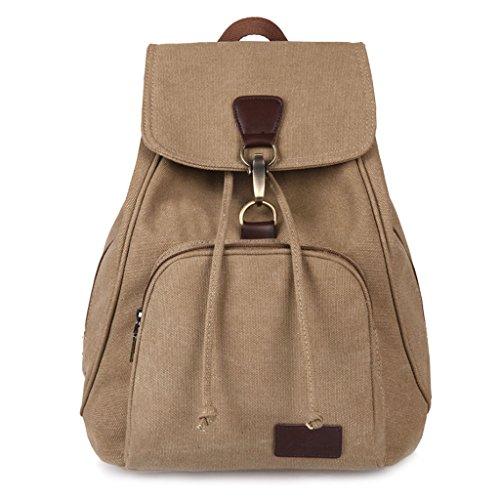 JAGENIE Bolso mochila para mujer marrón café Caqui