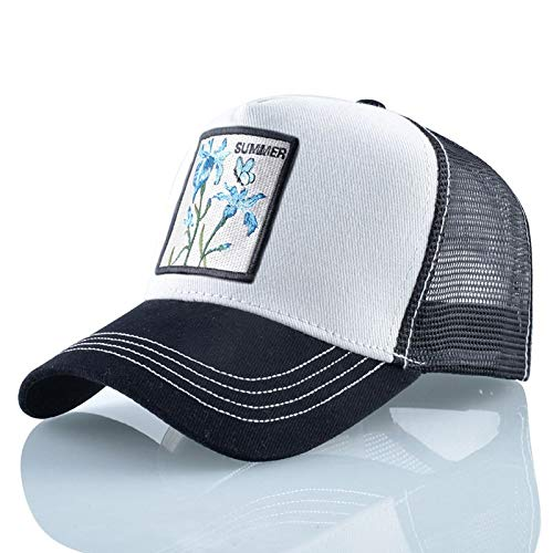 AAMOUSE Baseball Cap Snapack Hats for Men and Women Summer reathale mesh Outdoor Cap Sun hat Flower Emroidered Hip Hop Trucker Ones