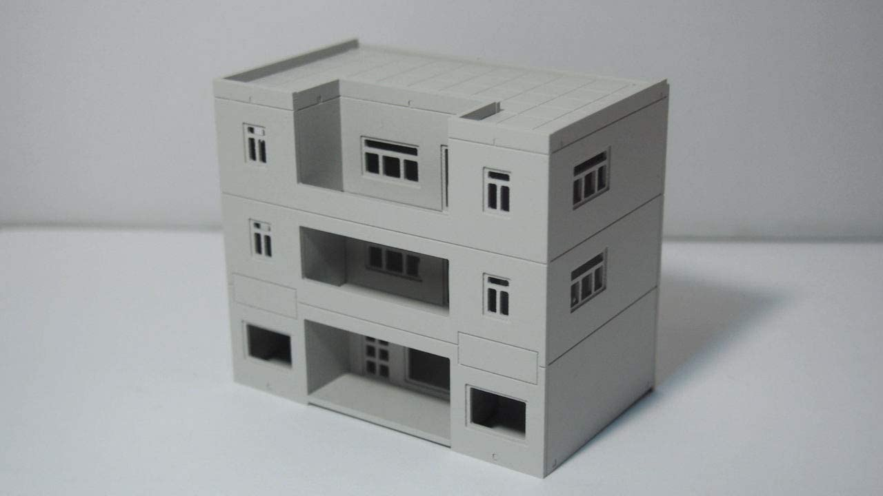 Outland Models Railway Modern 3-Story Building Office / House N Scale 1:160