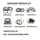 Gimax 2 Sets for Hitachi EX200-6 Boom Cylinder Seal Repair Service Kit Excavator Oil Seals, 3 Month Warranty