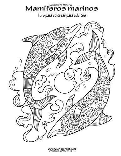 Amazon.com: Mamíferos marinos libro para colorear para adultos 1 ...