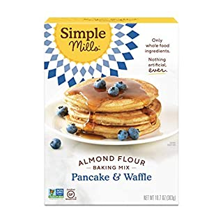 Simple Mills Almond Flour Pancake Mix & Waffle Mix, Gluten Free, Made with whole foods, (Packaging May Vary)