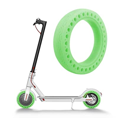 Ourleeme Fluorescent Tire, Luminous Solid Tire Replacement Spare Parts, Honeycomb Rubber Solid Tire Mi Scooter Tire Front/Rear Wheel Replacement for Xiaomi M365 Electric Scooter 8.5 Inch : Sports & Outdoors