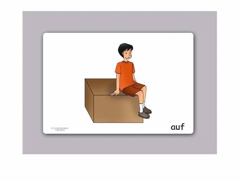 Yo-Yee Flashcards Bildkarten f/ür den DAF F/ür Kindergarten und Grundschule DAZ Unterricht Pr/äpositionen