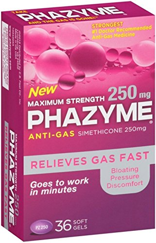 Phazyme Maximum Strength Softgels, 36 ea (Pack of 12) by Phazyme