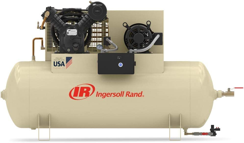 Model# 2545E10-VP 3 Phase 230 Volt - 10 HP Ingersoll Rand Type-30 Reciprocating Air Compressor Dual Stage, Fully Packaged