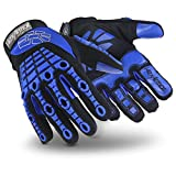 HexArmor Chrome Series 4024 Cut Resistant Safety Work Gloves with Anti Vibration Padded Palm