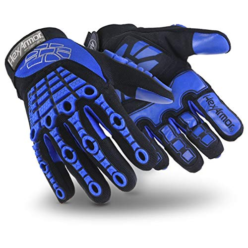 HexArmor Chrome Series 4024 Cut Resistant Safety Work Gloves with Anti Vibration Padded Palm by HexArmor (Image #4)