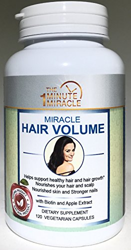 MIRACLE HAIR VOLUME - 120 Capsules With BIOTIN, Apple Extract, Millet Extract and Horsetail Extract.