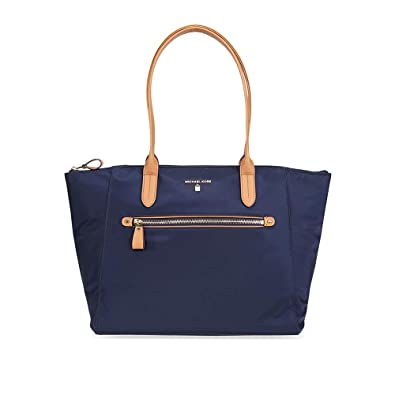 56e0c8aa8767 Michael Kors Kelsey Nylon Large Zip Tote in Admiral: Handbags ...