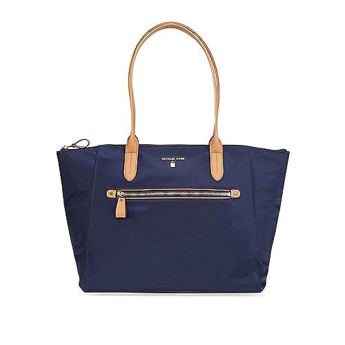 d7c833015 Michael Kors Kelsey Nylon Large Zip Tote in Admiral: Handbags: Amazon.com