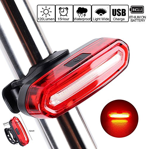 UPC 762360710776, HONGYU Bicycle Tail Light USB Rechargeable Bike Safety Light Front and Rear Bicycle Lights, Waterproof, 360-degree for Cycling Safety Easy Install on Bicycles, Helmets, Backpacks (Red Light)