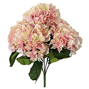 Leegoal Artificial Hydrangea Flower Bouquets Home Party Wedding Decor (Pink) 7