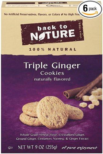 Back to Nature Galletas - Triple Jengibre - 9 oz: Amazon.com ...