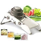 VinMas All-New Food Stainless Steel Blades Vegetable Cutter - Upgraded 18 Kinds of Slices and Shreds Adjustable Mandoline Vegetable Slicer