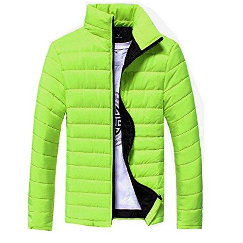 Giù light Per Verde Cerniera L'inverno Caldo Spessore Del Degli Uomini Cappotti Misaky Esterni Rivestimento H OXnq614x1w
