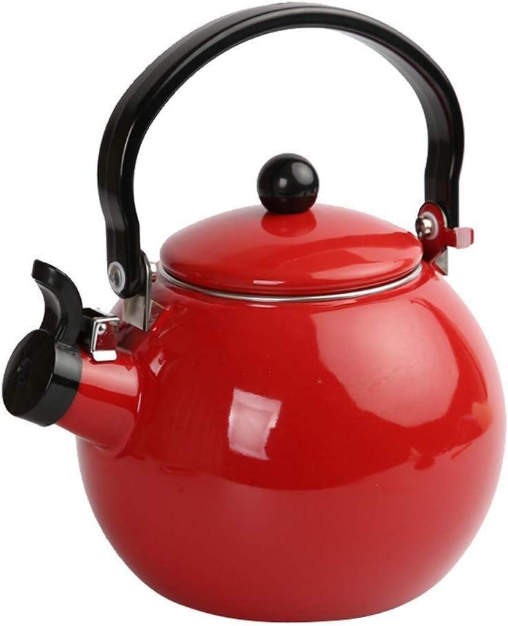 sifflante bouilloire /à th/é 1.5L cuisini/ère Th/éi/ère Teakettles disponibles pour gaz//Induction///électrique//c/éramique//cuisini/ère la p/êche/ halog/ène pour la randonn/ée le camping