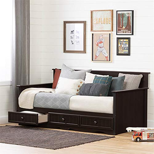 South Shore 11686 Savannah Daybed with Storage, Twin, Brown
