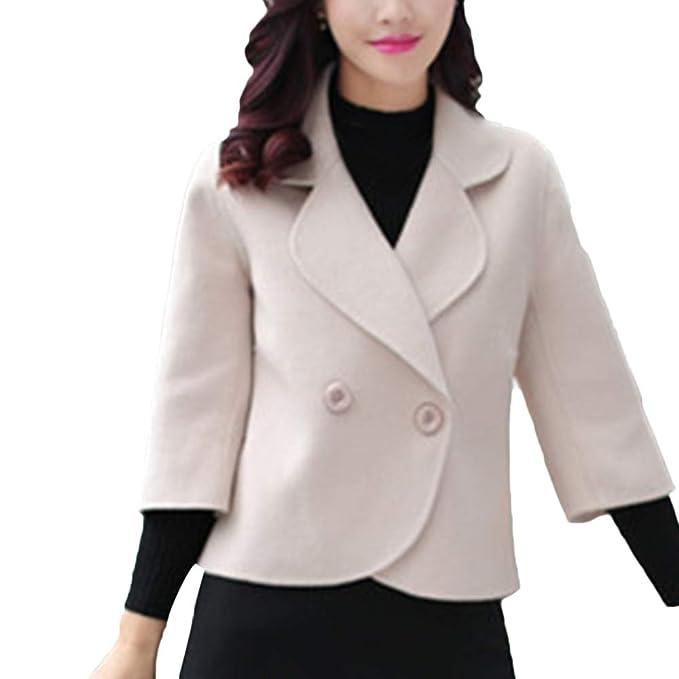 Linlink Venta de liquidación Chaqueta Caliente de Las Mujeres de Solapa Elegante Abrigo Chaqueta Casual Abrigo